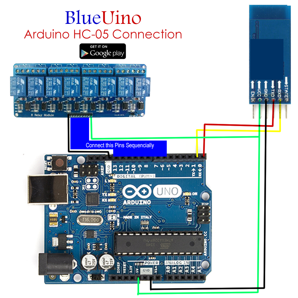 Bluetooth-HC-05-Adruin-connections